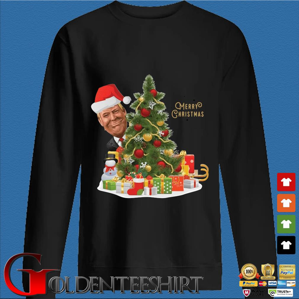 Trump Merry Christmas Tree Shirt