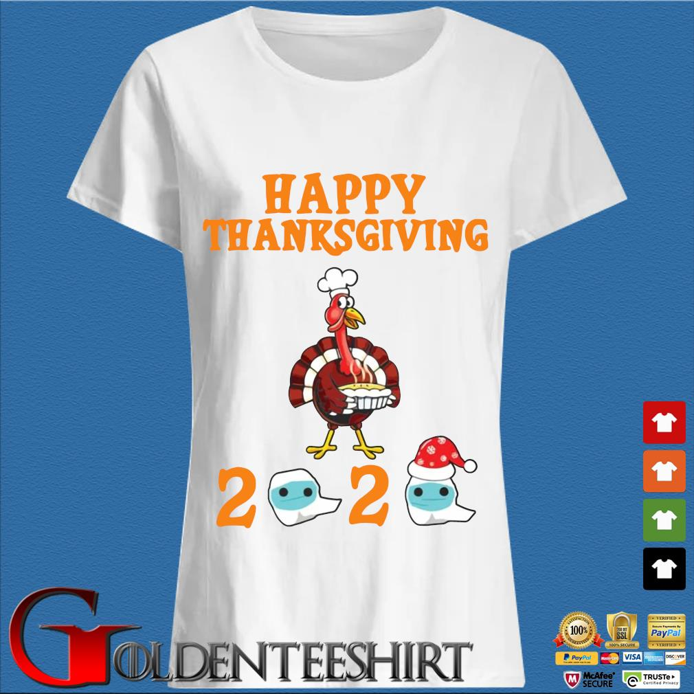 Turkey happy Thanksgiving 2020 face mask sweater Trang Ladies