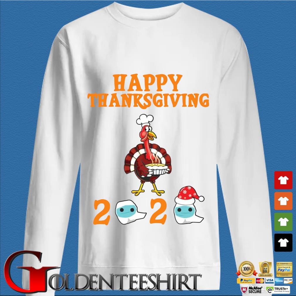 Turkey happy Thanksgiving 2020 face mask sweater
