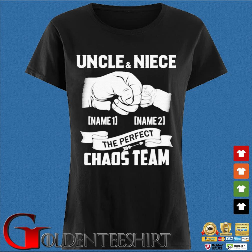 Uncle And Niece The Perfect Chaos Team Punching Hand Best Uncle Ever Shirt Den Ladies