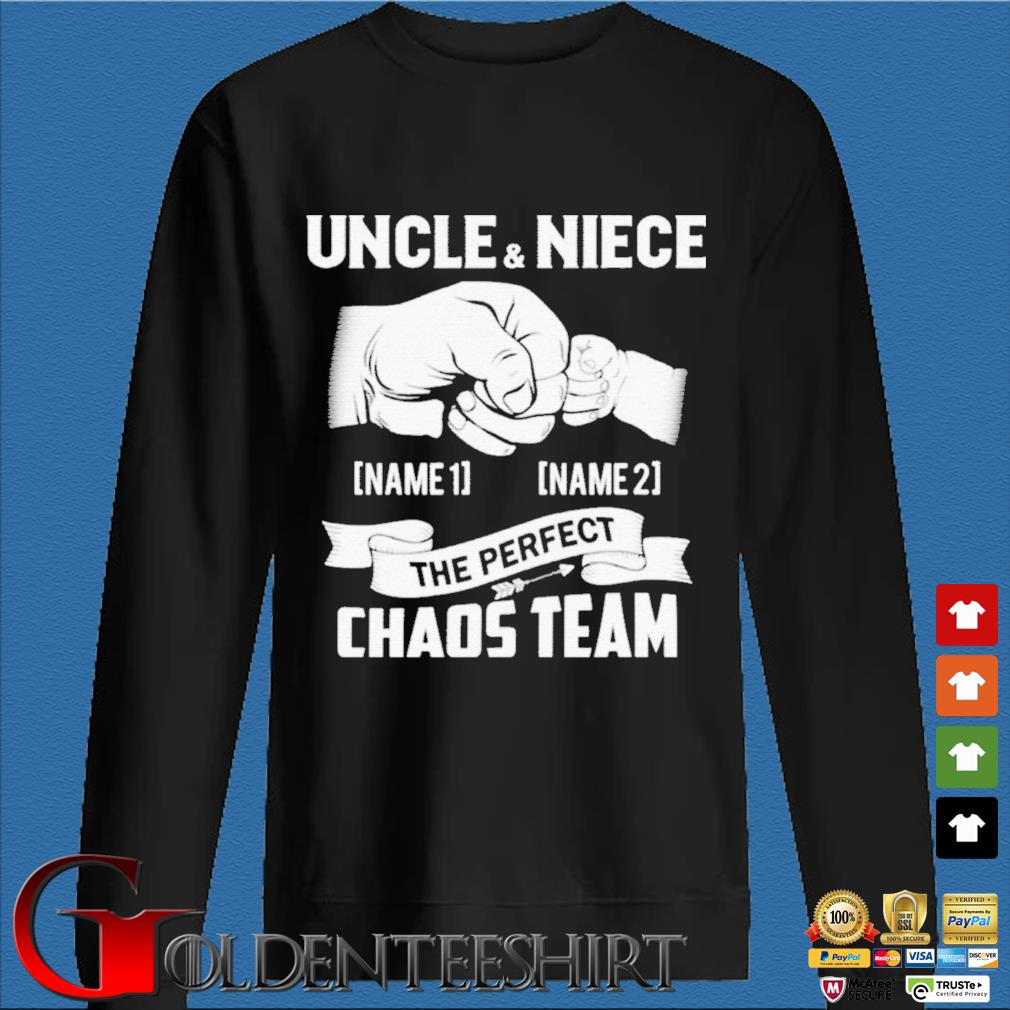 Uncle And Niece The Perfect Chaos Team Punching Hand Best Uncle Ever Shirt