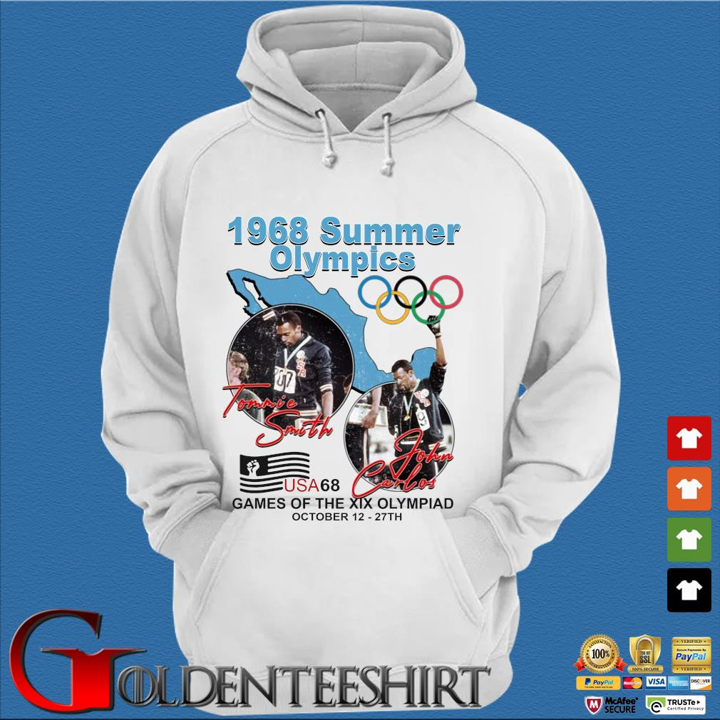 1968 summer Olympics Tommie Smith John Carlos USA68 games of the XIX Olympiad october 12 27 th s Trang Hoodie