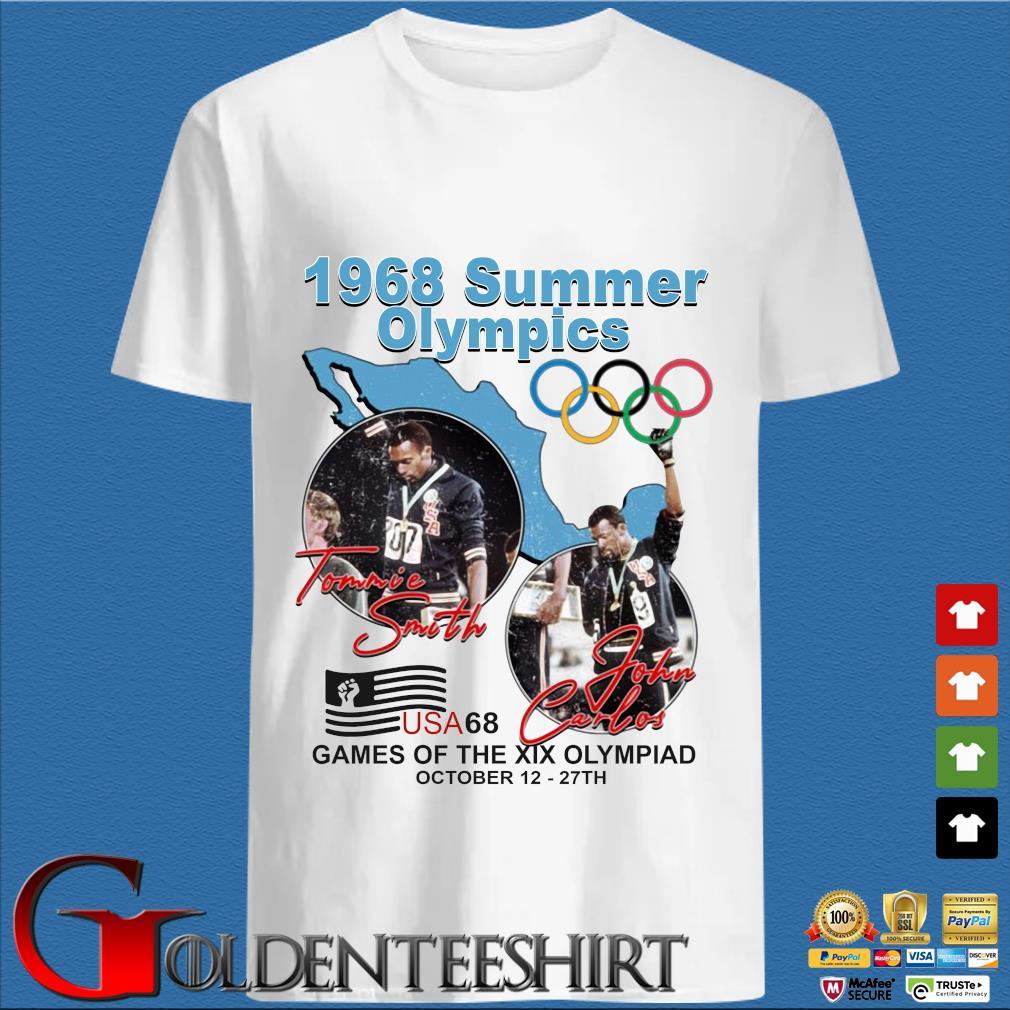 1968 summer Olympics Tommie Smith John Carlos USA68 games of the XIX Olympiad october 12 27 th s trang Shirt