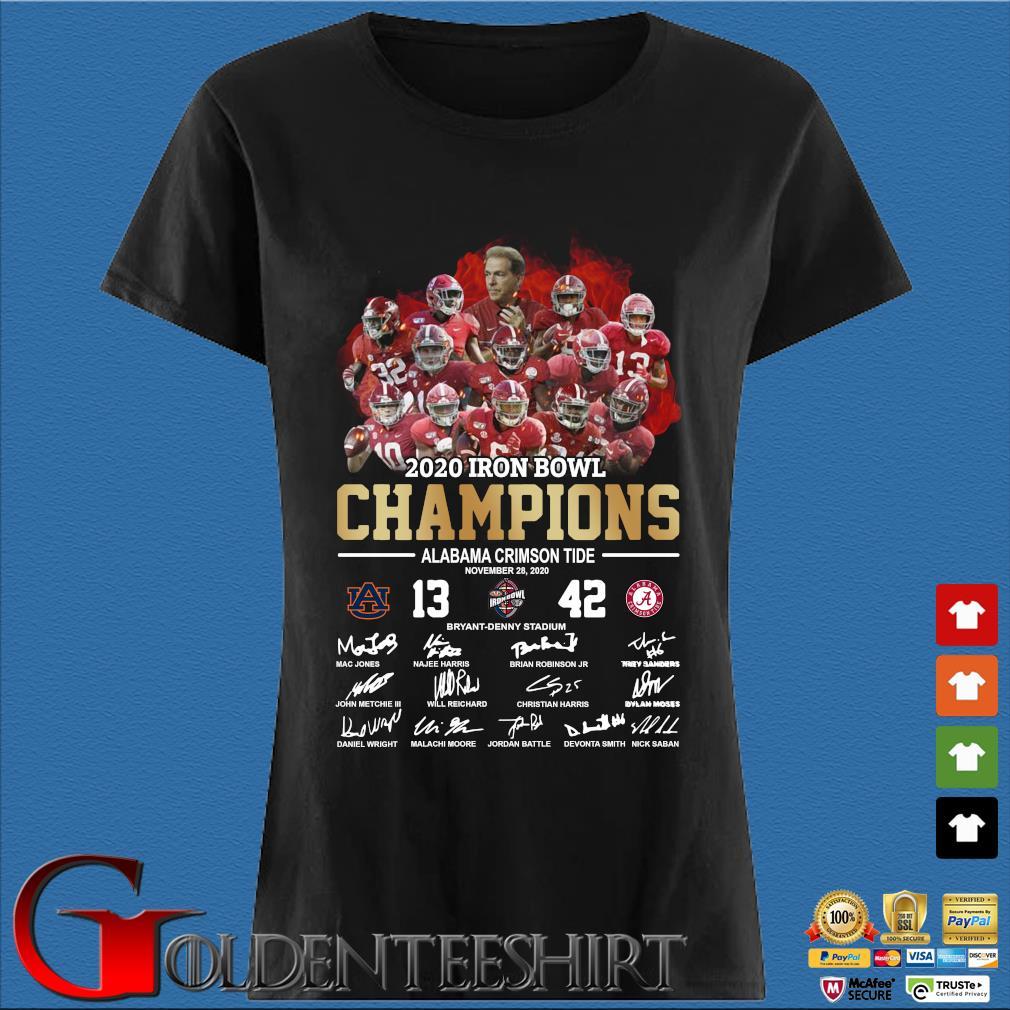 2020 Iron bowl Champions Alabama Crimson Tide signatures s Den Ladies