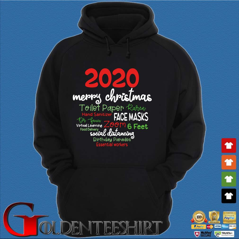 2020 Merry Christmas toilet paper karen hand sanitizer face masks sweater Hoodie đen