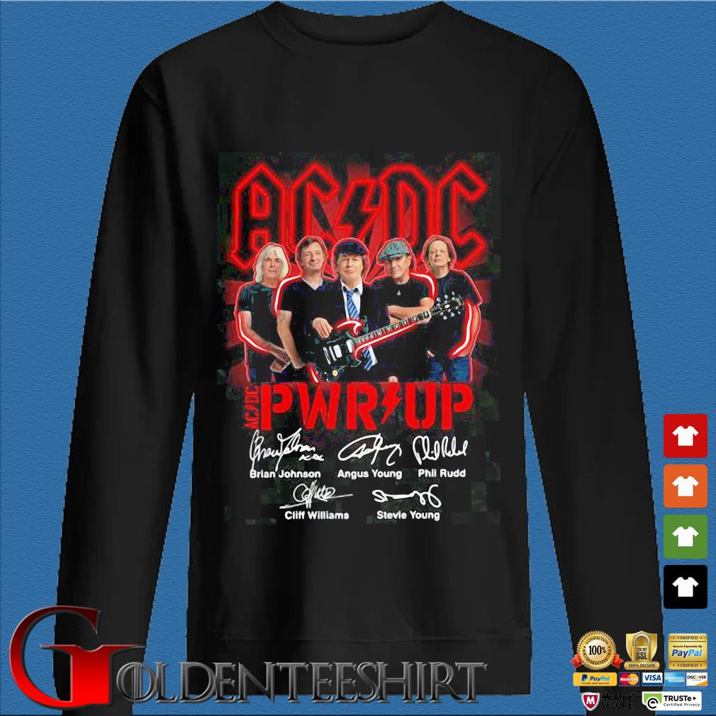 ACDC Pwr up signatures shirt