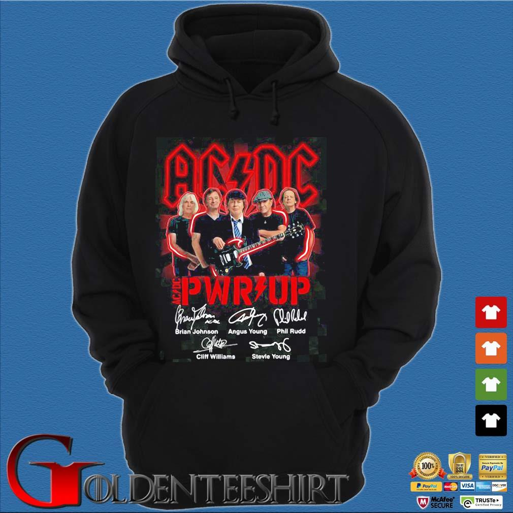 ACDC Pwr up signatures s Hoodie đen
