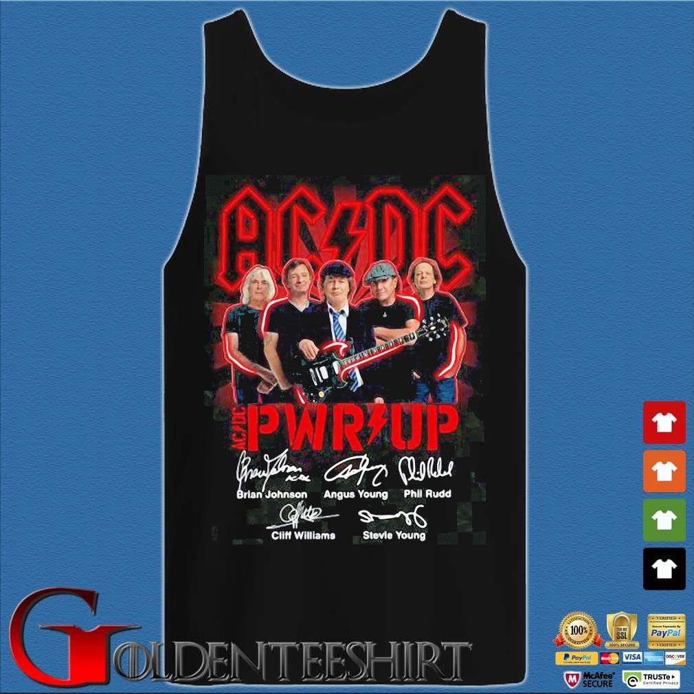 ACDC Pwr up signatures s Tank top den