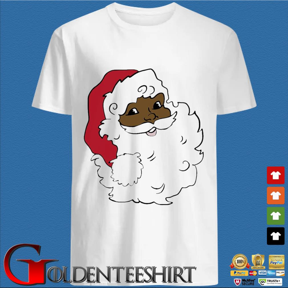 African American Santa Claus Merry Christmas sweater trang Shirt