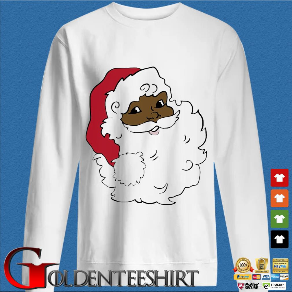 African American Santa Claus Merry Christmas sweater