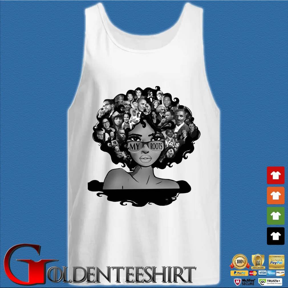 Afro Afro Lady Roots My Roots Obama Rosa Shirt Tank top trắng