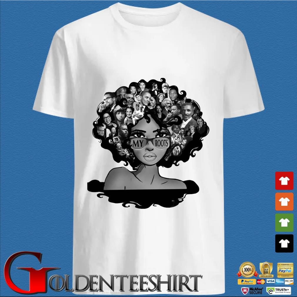 Afro Afro Lady Roots My Roots Obama Rosa Shirt trang Shirt