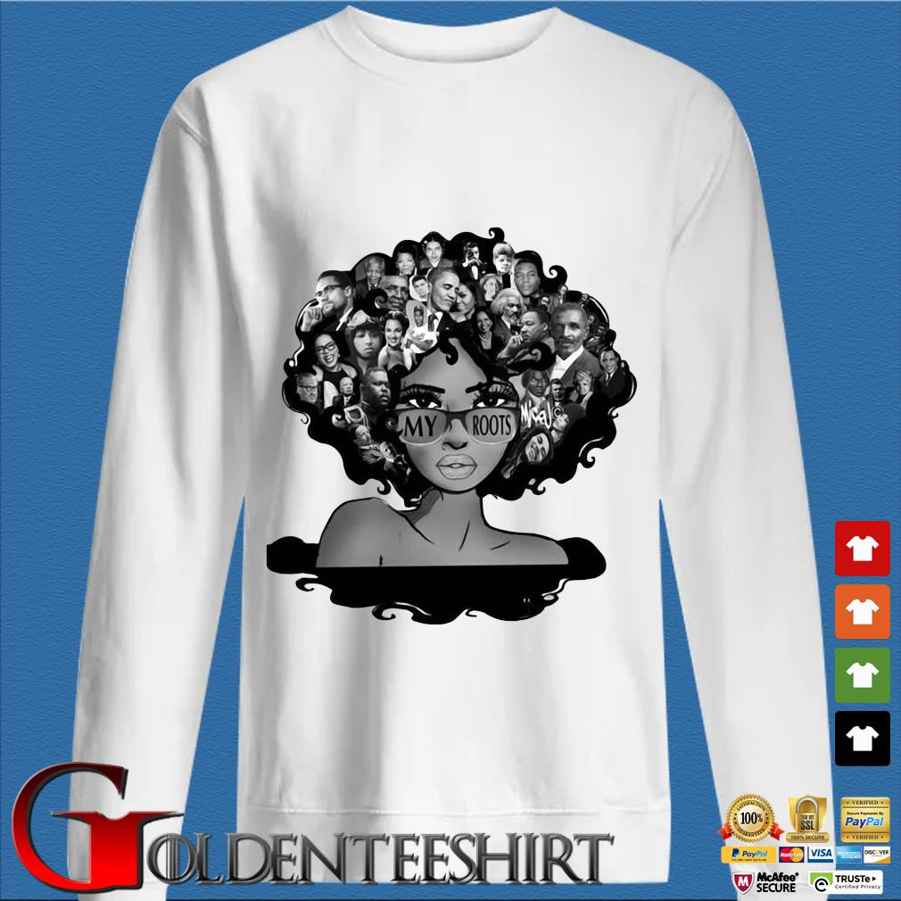 Afro Afro Lady Roots My Roots Obama Rosa Shirt