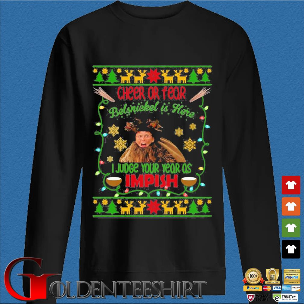 Dwight Schrute Cheer or fear belsnickel is here Christmas sweater