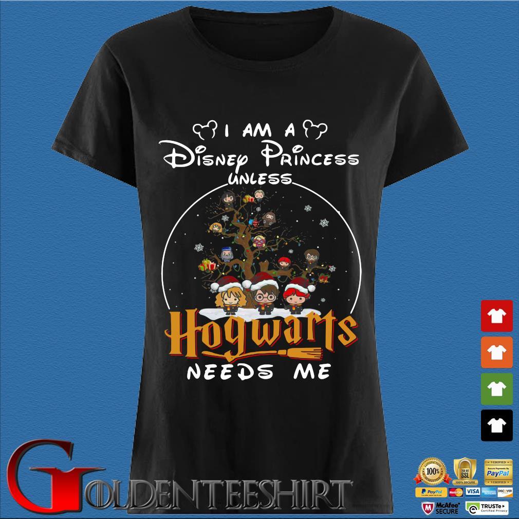 Harry Potter Character On Tree I am a Disney Princess Unless Hogwarts Needs Me Christmas sweater Den Ladies