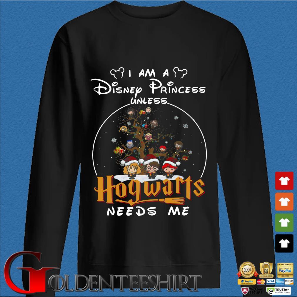 Harry Potter Character On Tree I am a Disney Princess Unless Hogwarts Needs Me Christmas sweater