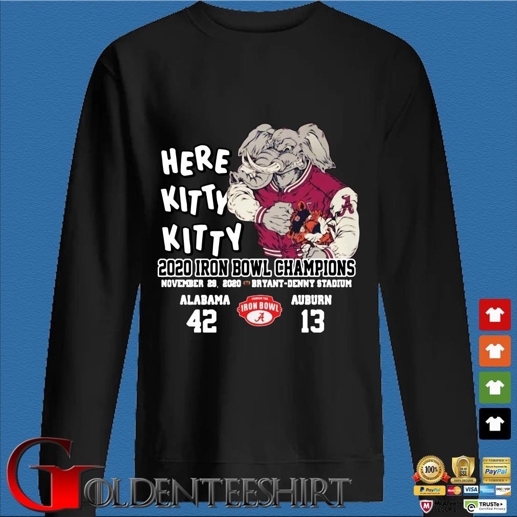Here kitty kitty 2020 Iron Bowl Champions Alabama Auburn shirt