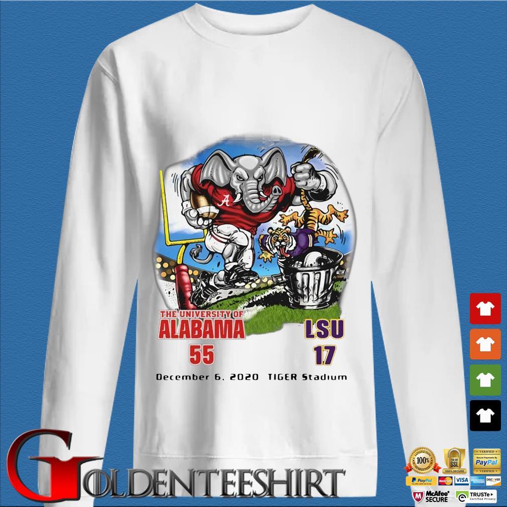 The University Of Alabama 55 LSU 17 shirt
