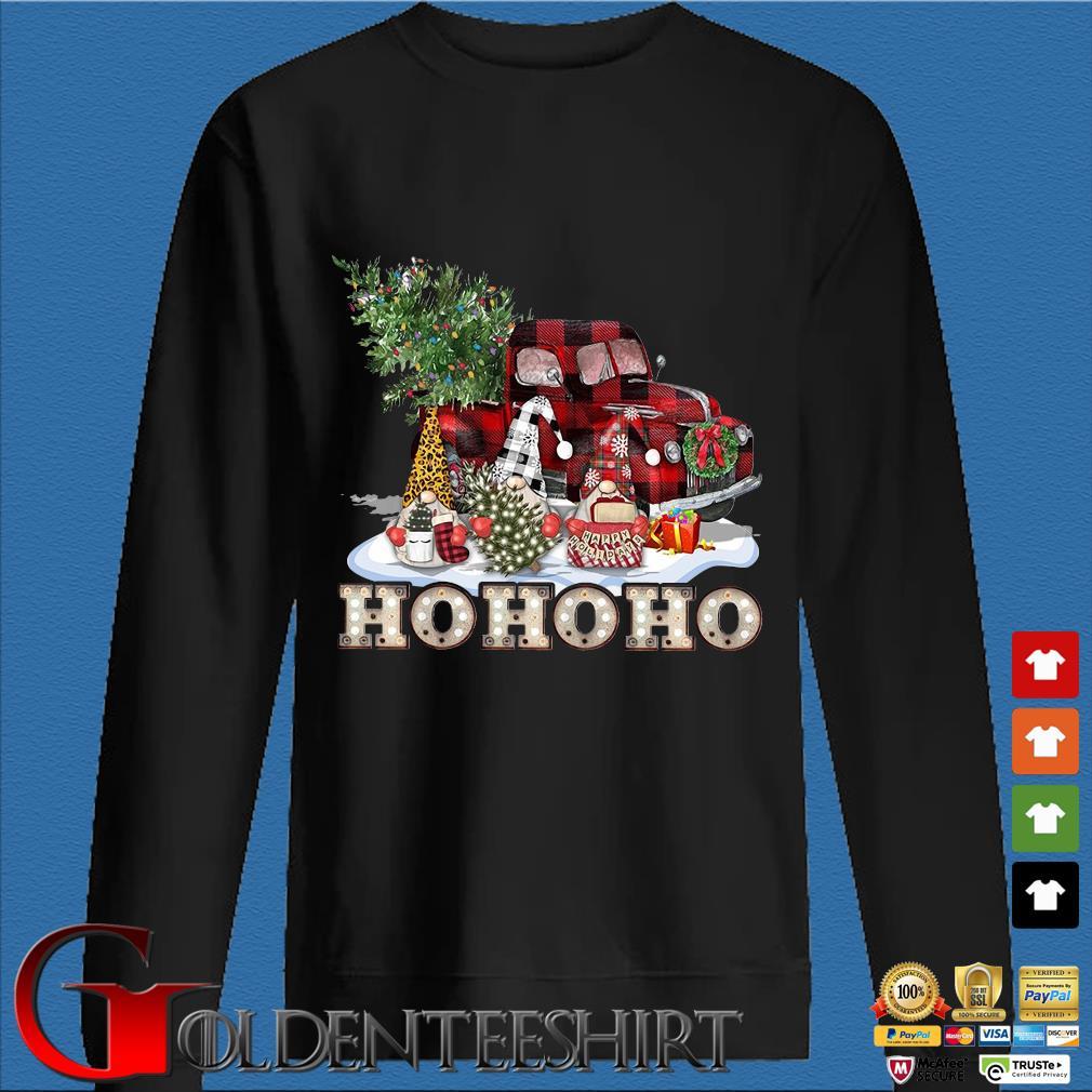 Three Gnomes in red truck ho ho ho Christmas tree Sweater