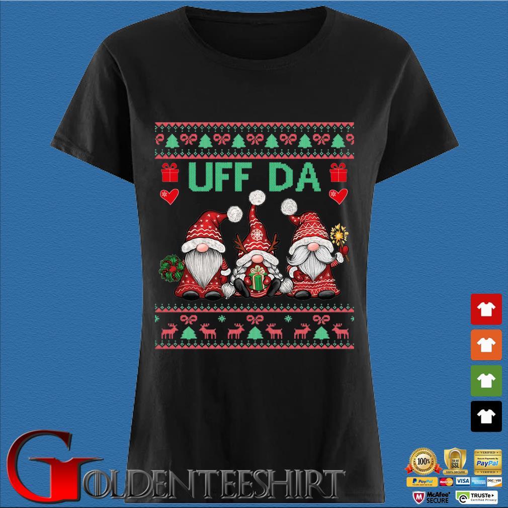 Three Gnomes uff da Ugly Christmas sweater Den Ladies