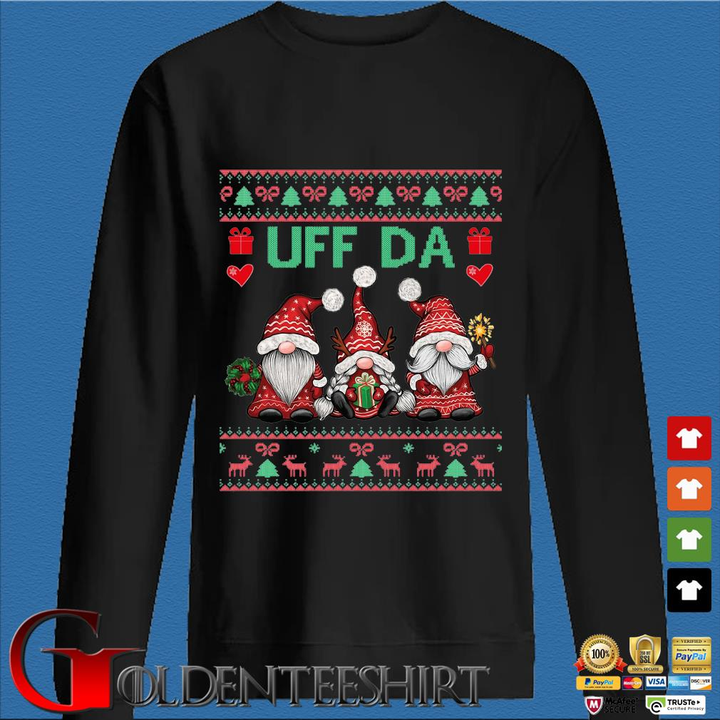 Three Gnomes uff da Ugly Christmas sweater