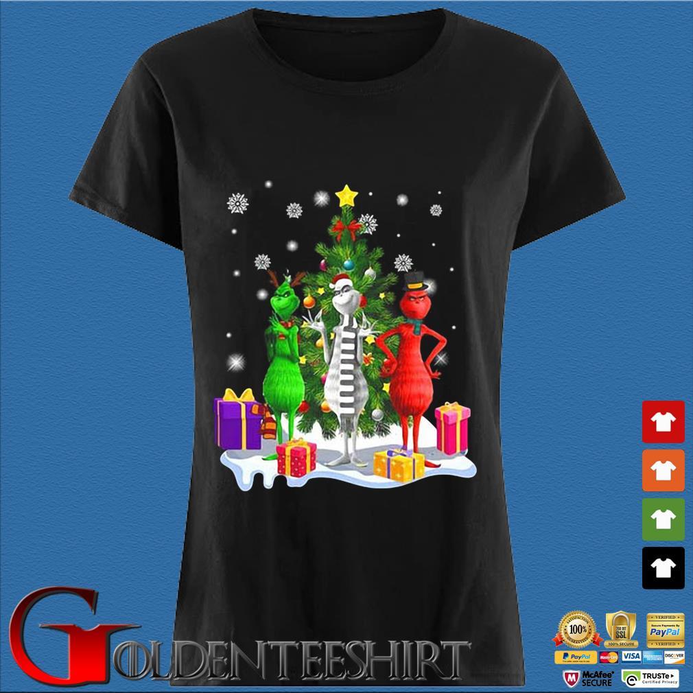 Three Grinch Merry Christmas sweater Den Ladies