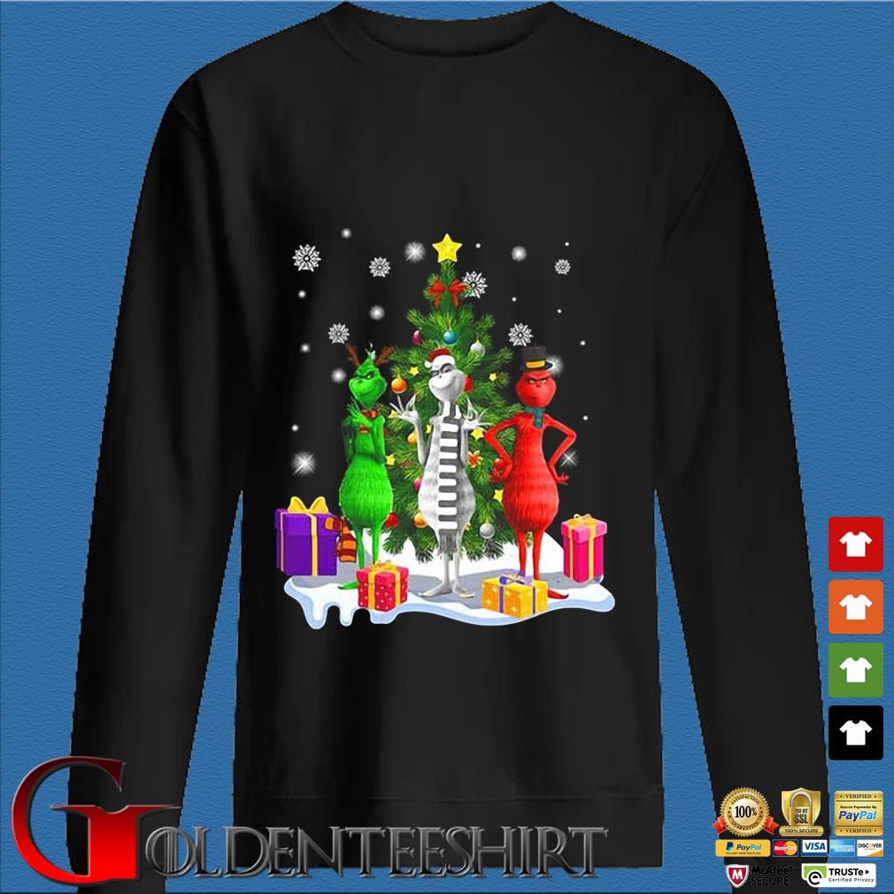 Three Grinch Merry Christmas sweater