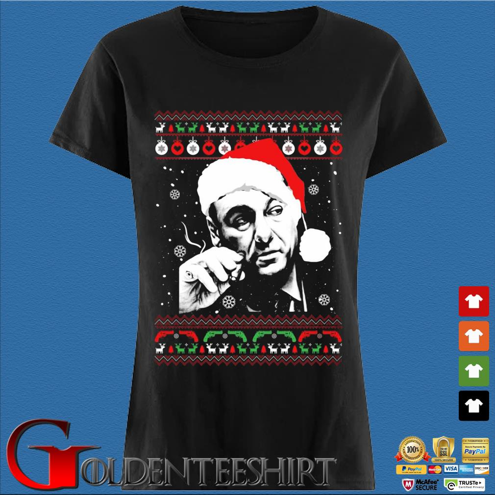 Tony Soprano Ugly Christmas Sweater Den Ladies
