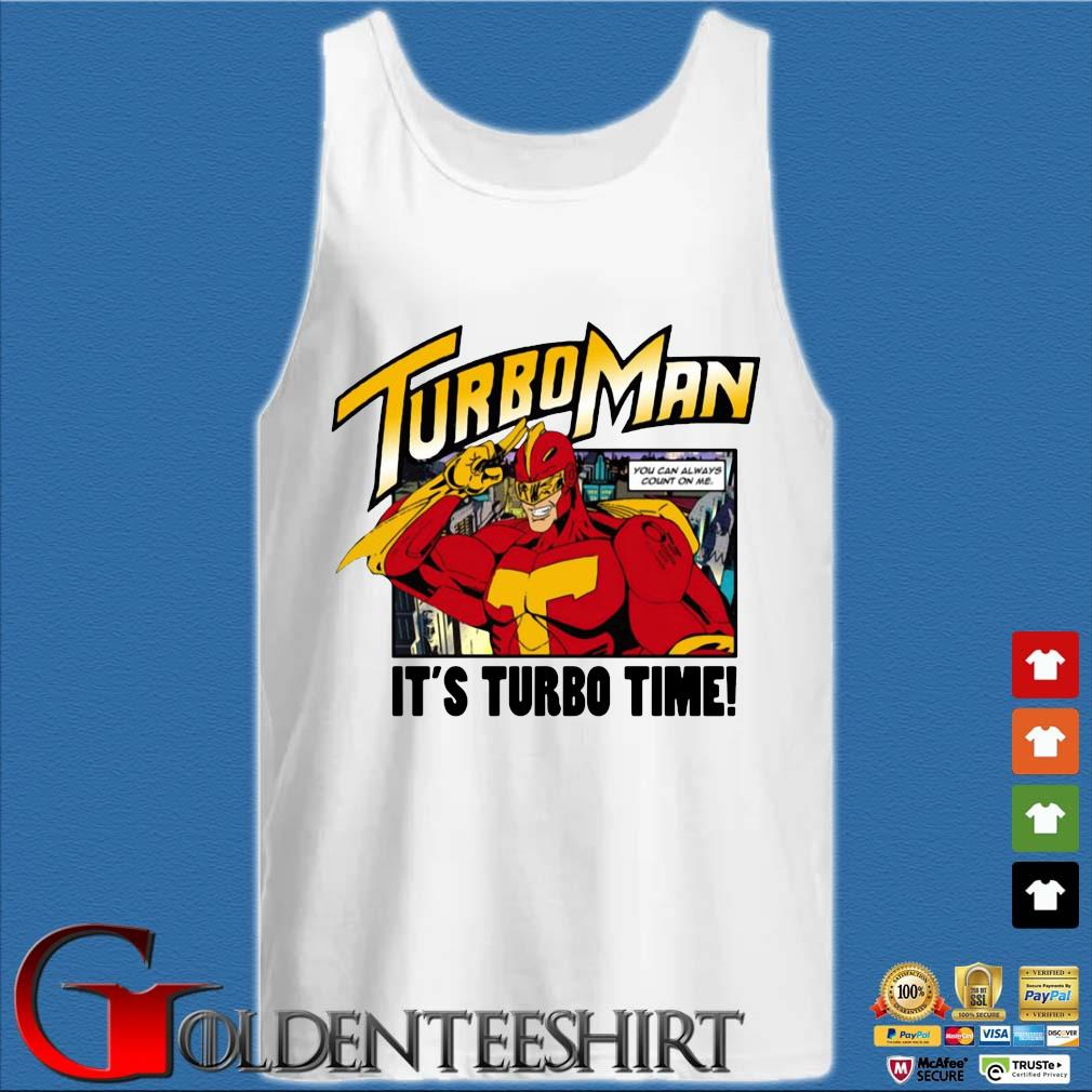 Turbo Man it's Turbo time s Tank top trắng