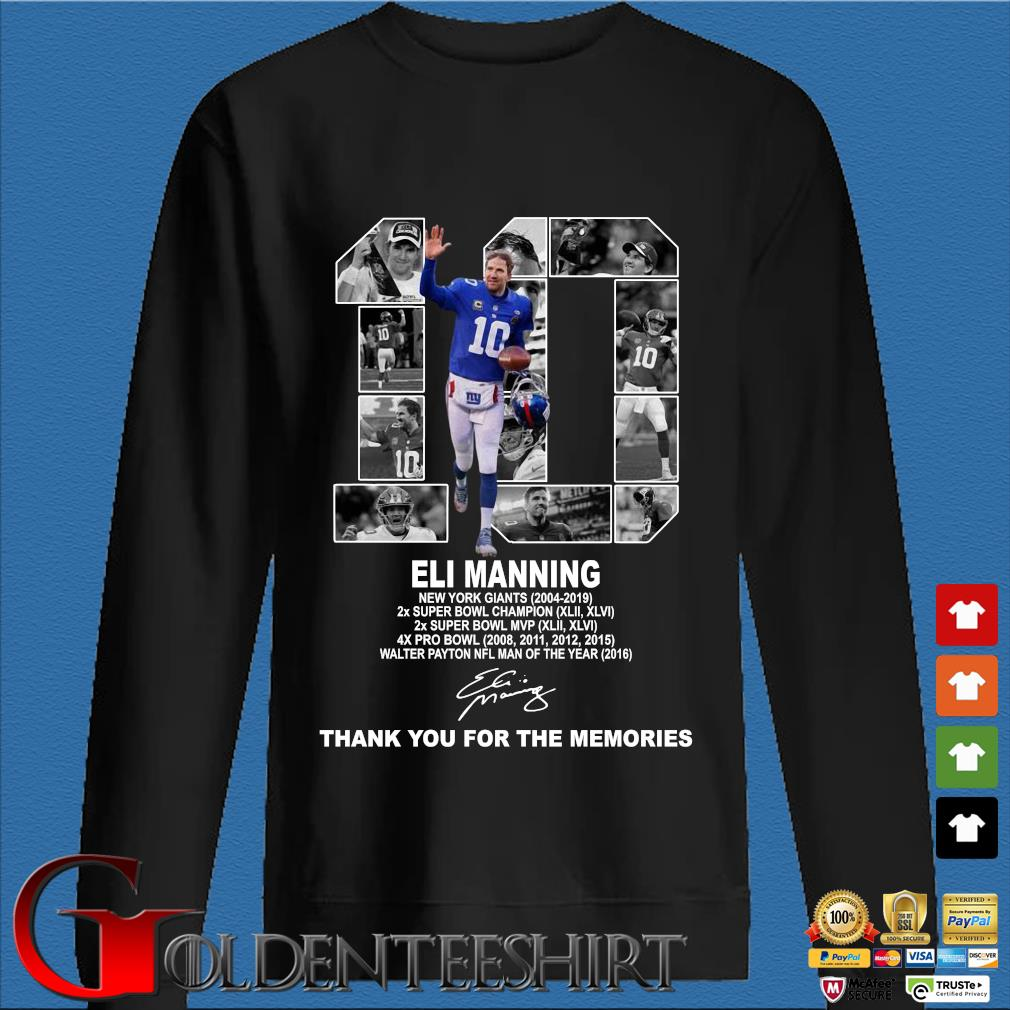 10 Eli Manning New York Giants Thank You For The Memories Shirt Den Sweater