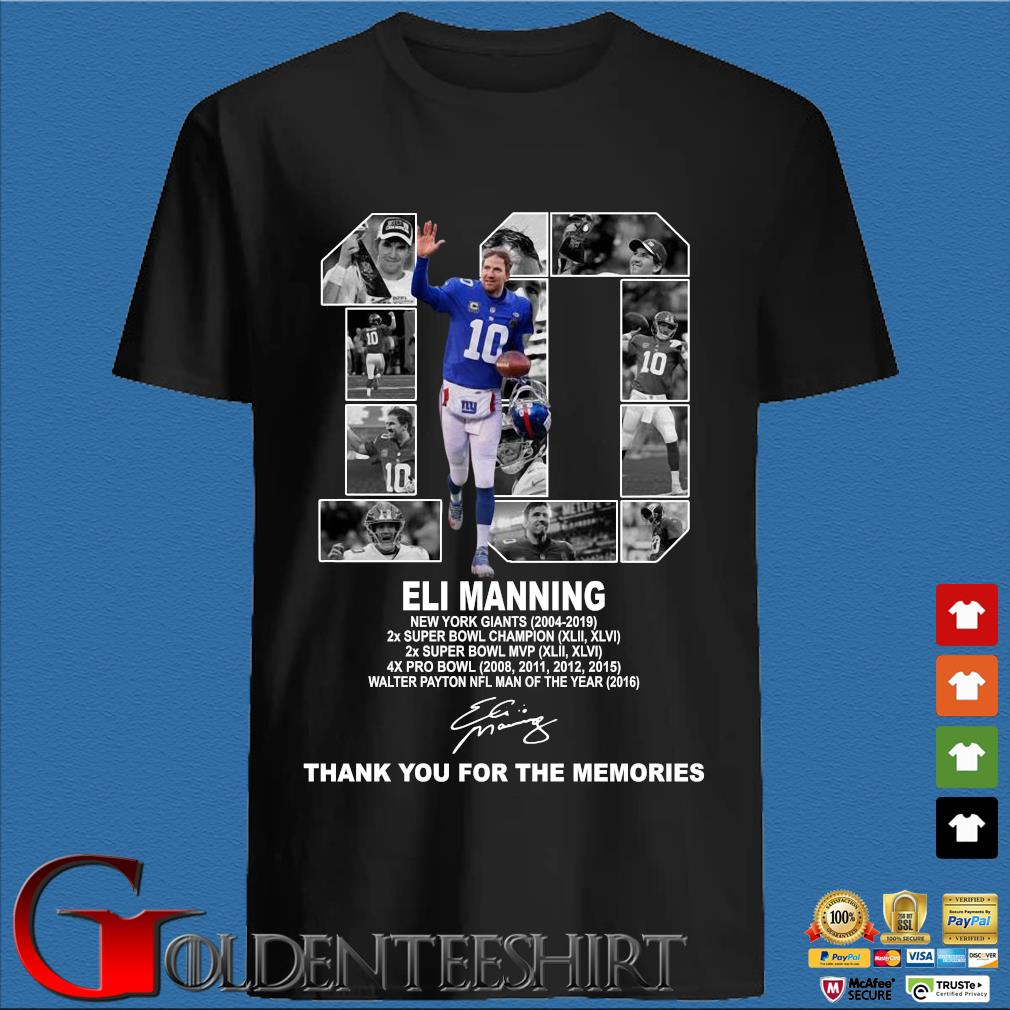 10 Eli Manning New York Giants Thank You For The Memories Shirt
