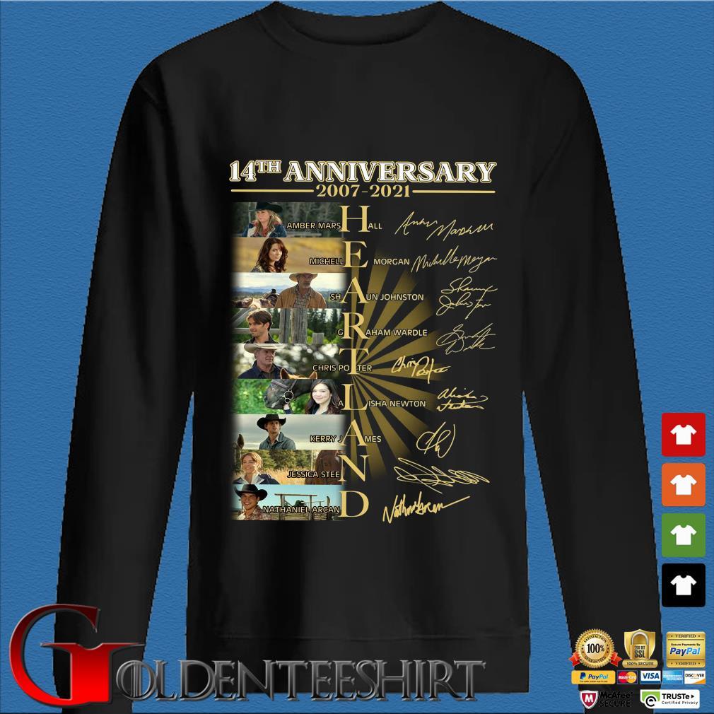 14th anniversary 2007-2021 Heartland signatures s Den Sweater