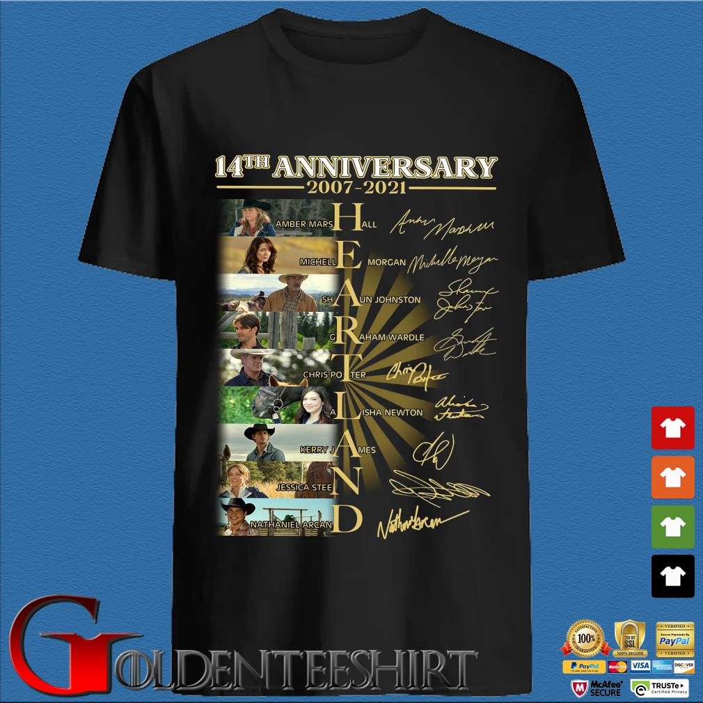 14th anniversary 2007-2021 Heartland signatures shirt