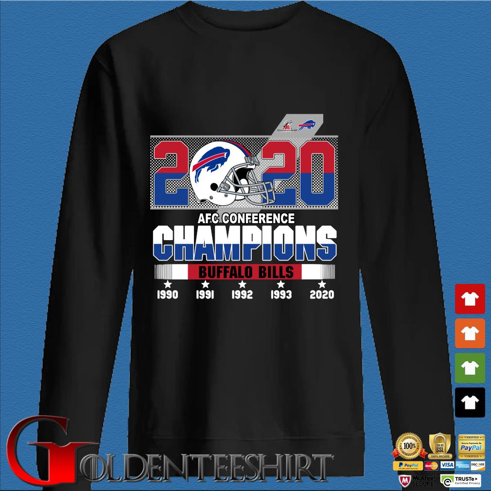 2020 AFC conference Champions Buffalo Bills 1990-2020 s Den Sweater