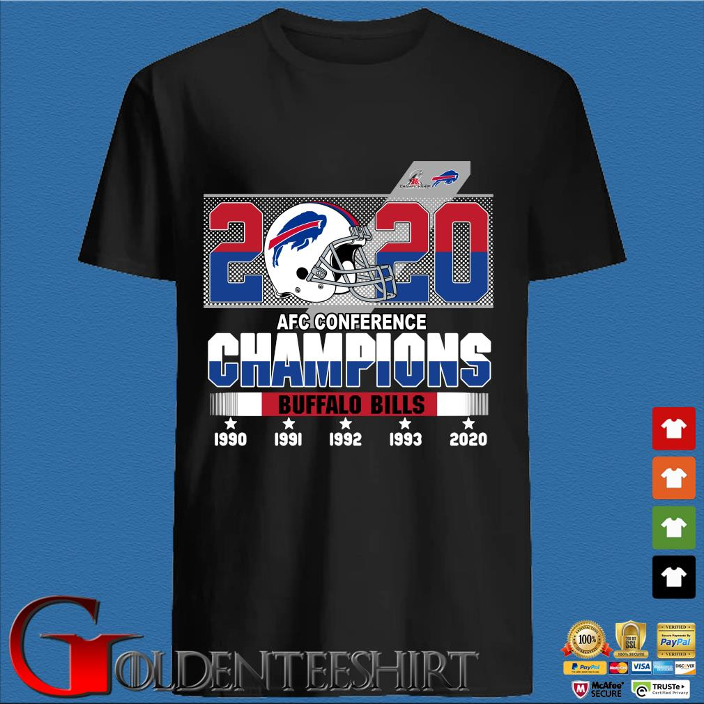 2020 AFC conference Champions Buffalo Bills 1990-2020 shirt