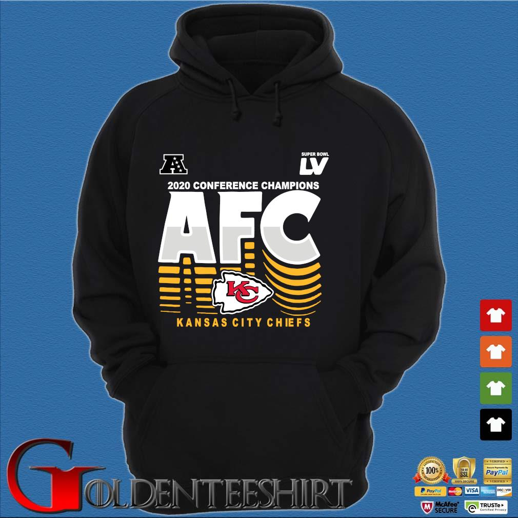 2020 conference Champions AFC Kansas City Chiefs s Hoodie đen