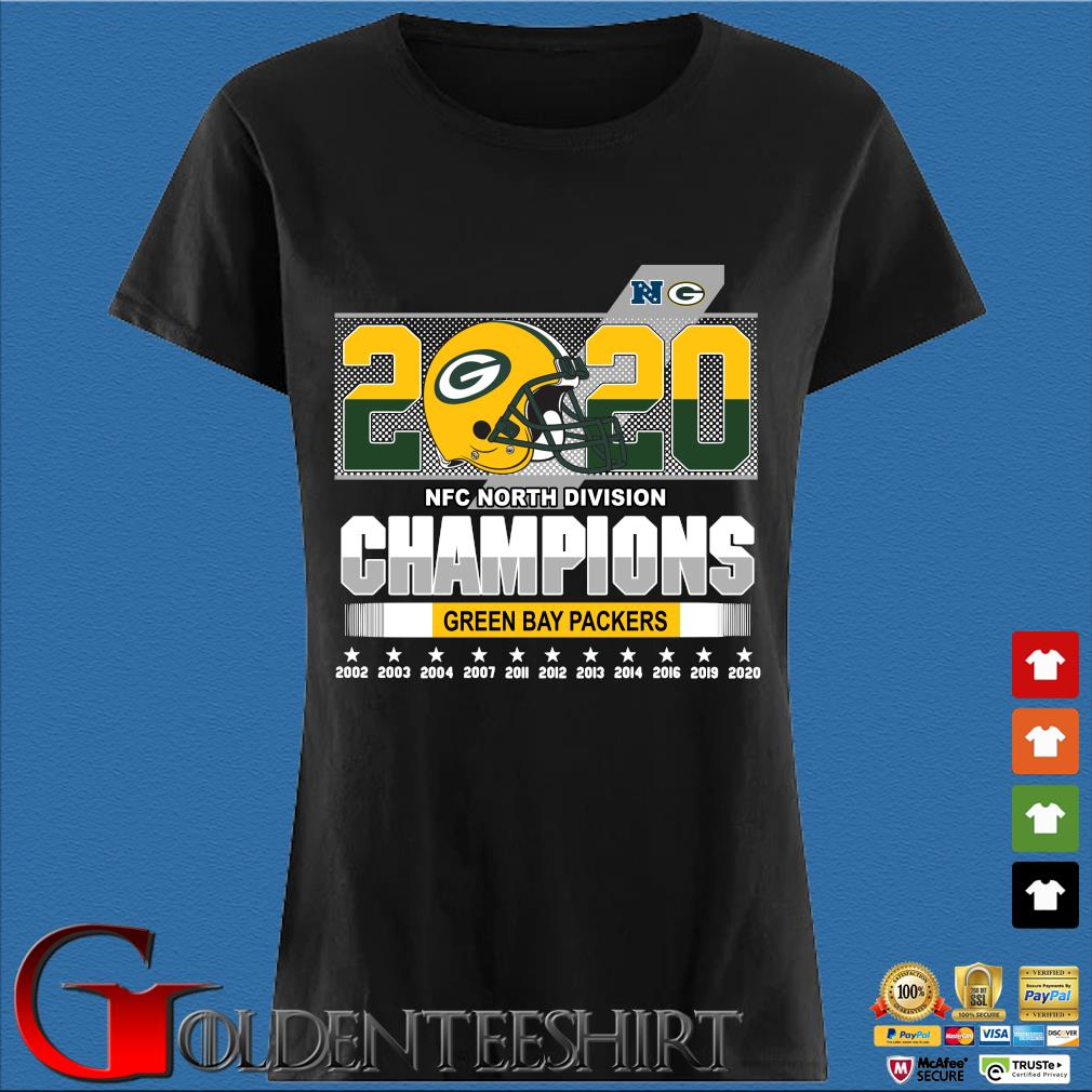 2020 NFC North Division Champions Green Bay Packers 2002-2020 s Den Ladies