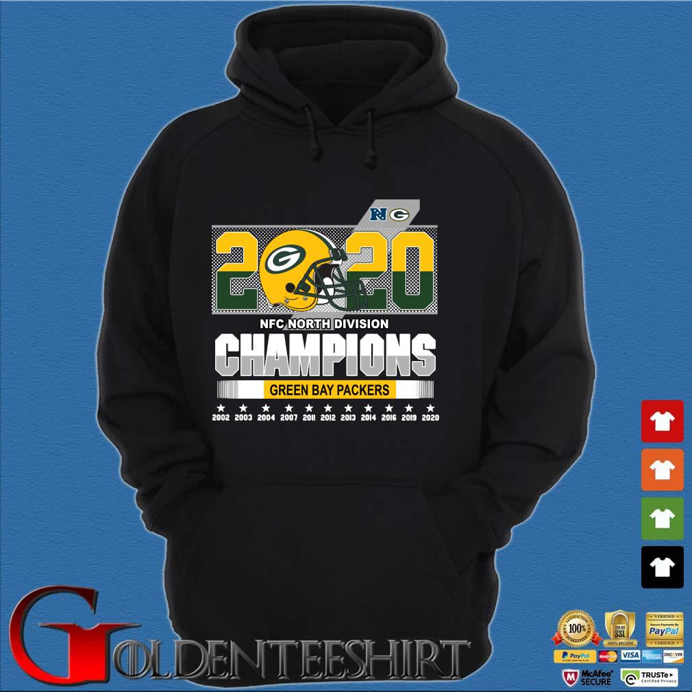 2020 NFC North Division Champions Green Bay Packers 2002-2020 s Hoodie đen