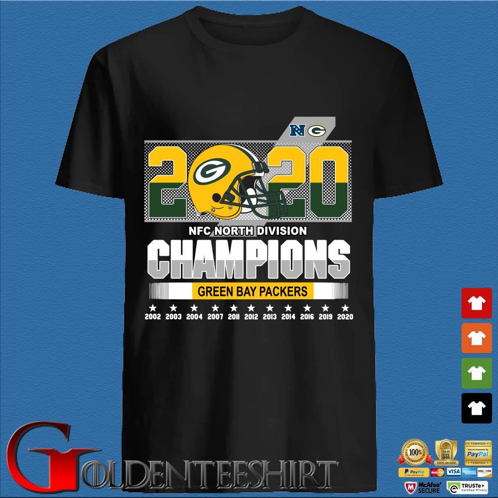 2020 NFC North Division Champions Green Bay Packers 2002-2020 shirt