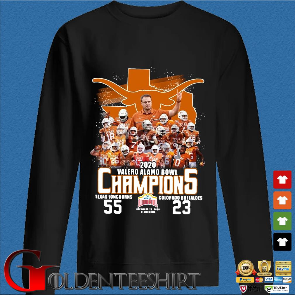 2020 Valero Alamo bowl Champions Texas Longhorns Colorado Buffaloes s Den Sweater