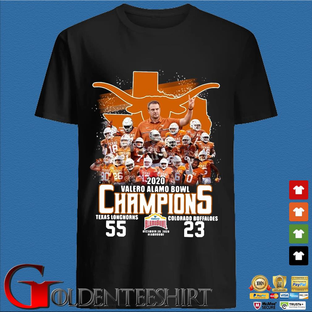 2020 Valero Alamo bowl Champions Texas Longhorns Colorado Buffaloes shirt