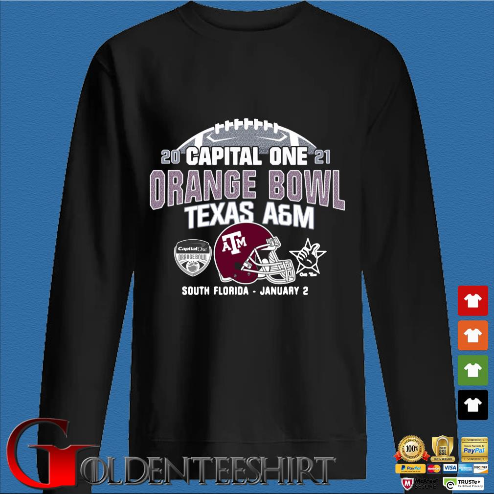 2021 capital one orange bowl Texas a&m South Florida january 2 s Den Sweater