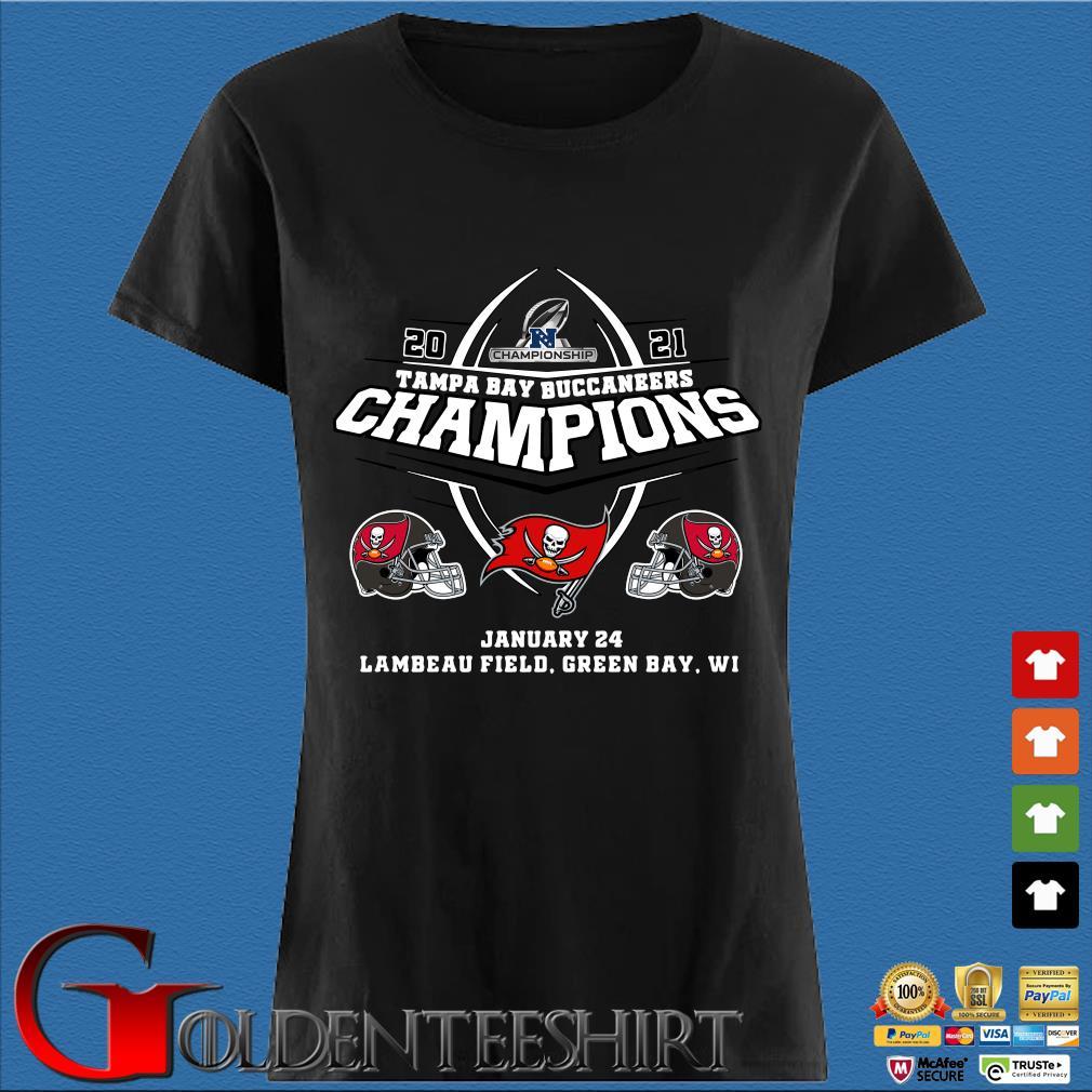 2021 Championship Tampa Bay Buccaneers Champions january 24 lambeau field green bay wi s Den Ladies