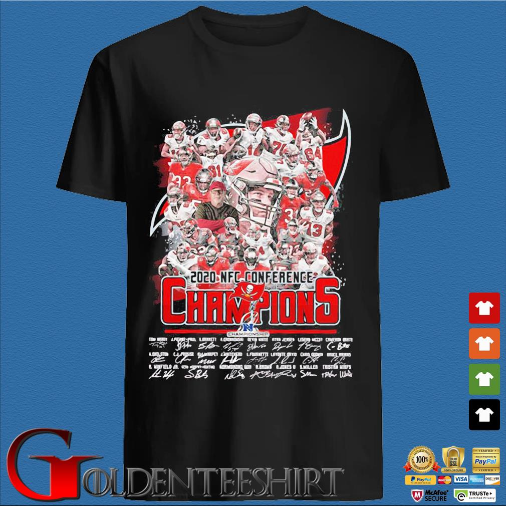2021 NFC Conference Champions Tampa Bay Buccaneers signatures shirt