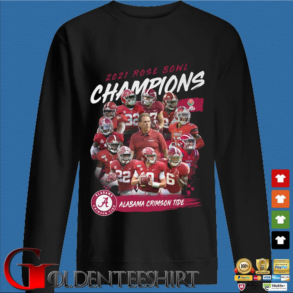 2021 Rose Bowl Champions Alabama Crimson Tide shirt