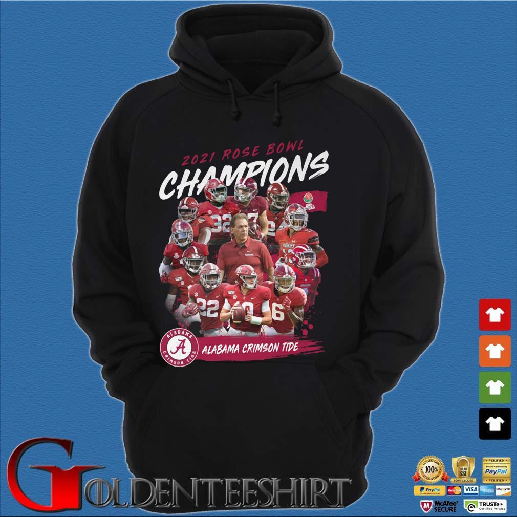 2021 Rose Bowl Champions Alabama Crimson Tide s Hoodie đen