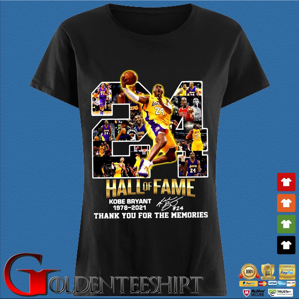 24 hall of fame Kobe Bryant 1978-2021 thank you for the memories signature s Den Ladies