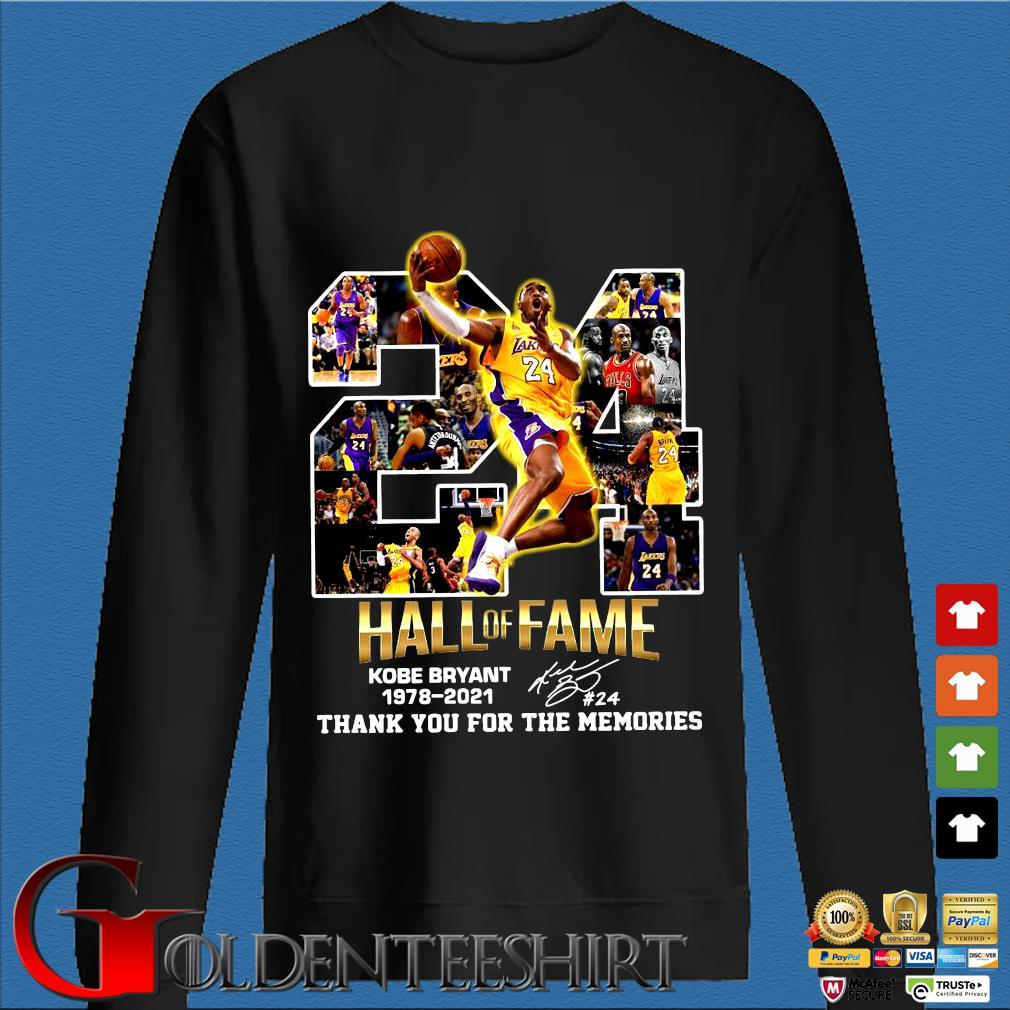 24 hall of fame Kobe Bryant 1978-2021 thank you for the memories signature s Den Sweater