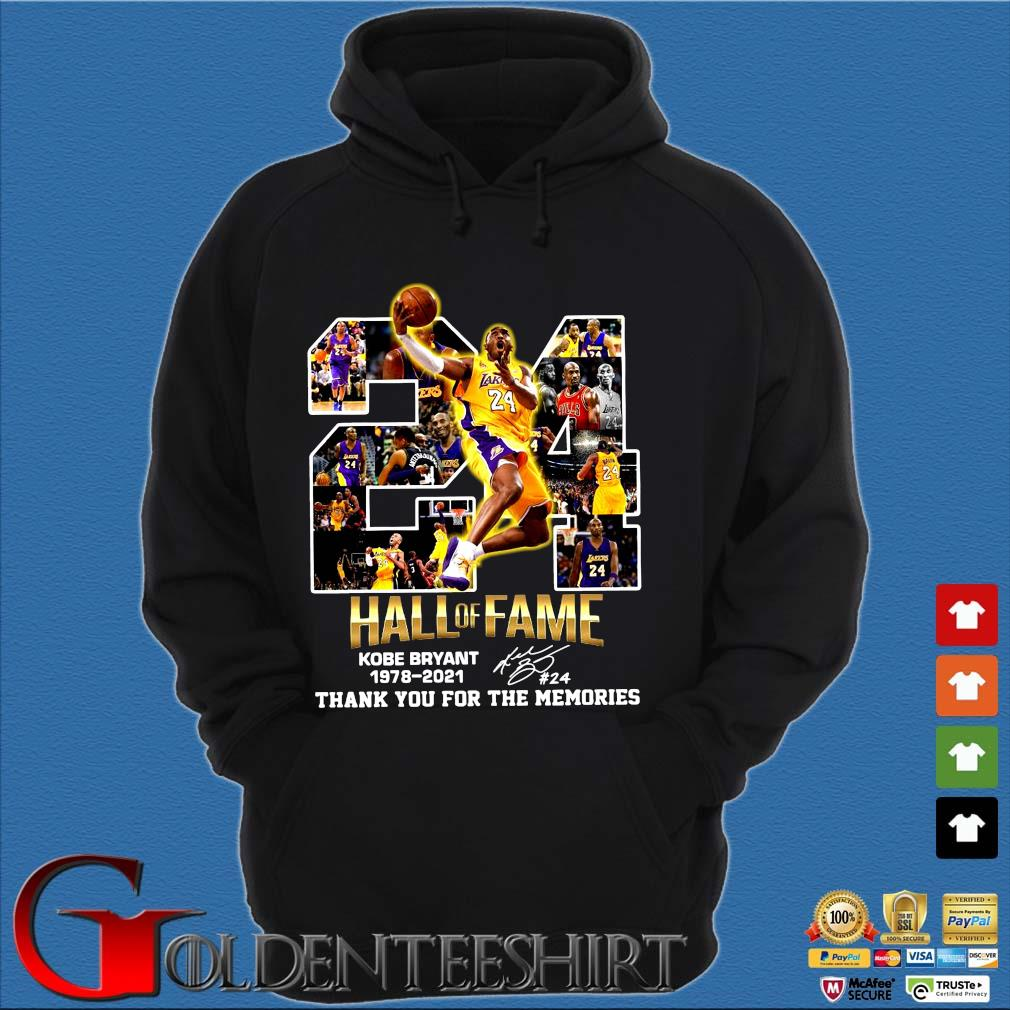 24 hall of fame Kobe Bryant 1978-2021 thank you for the memories signature s Hoodie đen