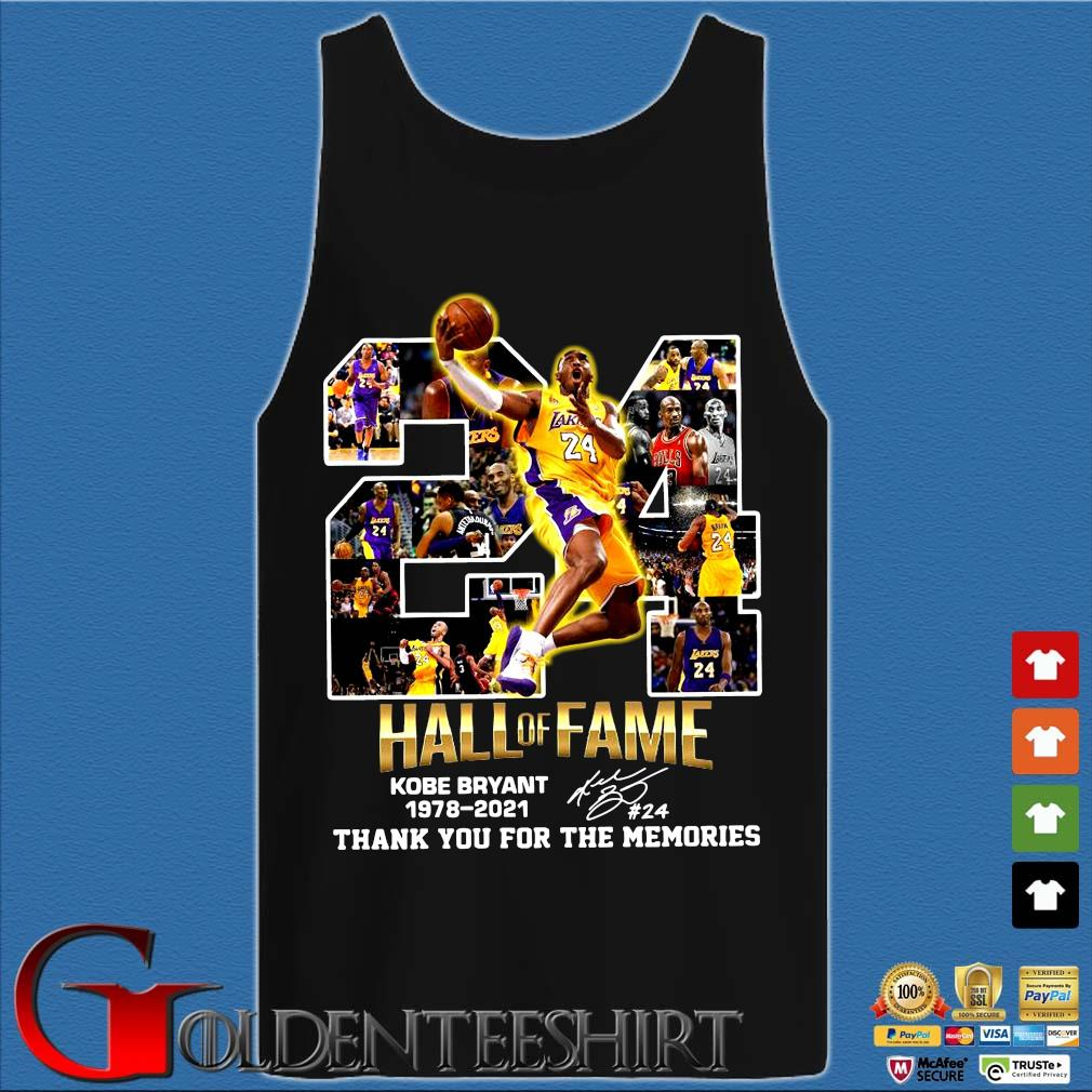 24 hall of fame Kobe Bryant 1978-2021 thank you for the memories signature s Tank top den